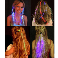 Wholesale Glow Sticks Butterflies - Wholesale Glowing Butterfly Braids 20Pcs  Lot Plastic Led Hairpin Frame Glow Sticks Suit For Party Birthday Wedding Decoration