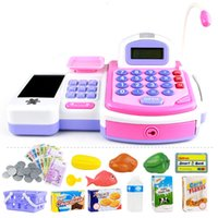 Wholesale pretend play kids - Pretend Play Electronic Cash Register Toy for Kids Realistic Actions and Sounds
