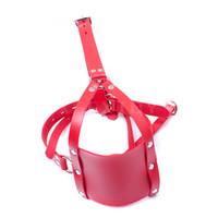 Wholesale Plug Yoke - 1pcs Harness Gag Bondage good Strengthen the ball plug mesh type mask mouth mouth yoke activities red color