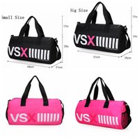 VSX Travel Bags VS Pink Grande Capa Duffle Striped Waterproof Beach Bag Shoulder Bag Bolsas Mulheres OOA2443