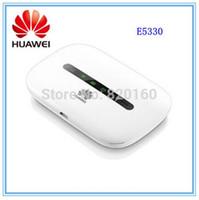 desbloqueado huawei inalámbrico al por mayor-Desbloqueado Huawei E5330 3G Bandas 900 / 2100Mhz 21.6Mbps Wifi Router inalámbrico de banda ancha PK E5220 E5332 E5331
