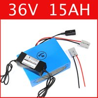 Wholesale 36v Electric Bike Battery Pack - 36V 15AH lithium battery super power 42V battery lithium ion battery + charger + BMS , electric bike pack Free customs duty