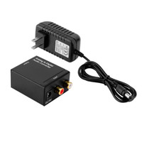 Wholesale Coax Coaxial - Analog L R to Digital Coaxial Coax RCA & Optical Audio Converter Adapter Wholesale