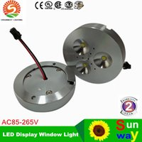 Wholesale light boxes displays for sale - 6W Dimmable Warm Pure Cold White AC110V AC220V AC230V LED Puck Light for cabinet or display box led downlight