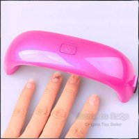 mini pulidor de dedo al por mayor-Gel Polish Lamp Led UV Light Secador de uñas Finger Dry Mini LED Lámpara de uñas Cute NailArt 9W