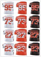 Wholesale custom Cleveland Men Women Youth Brown Joe Thomas Myles Garrett Joe Haden Jabrill Peppers Vapor Untouchable Limited Jerseys