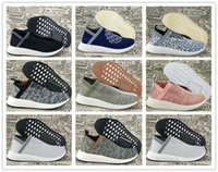 Wholesale Naked Original - Original Quality 2017 x Naked x Kith Running Shoes NMD PK CS2 Sock PK Primeknit Men Women Breathable Outdoor Sneakers Size 5.5-11