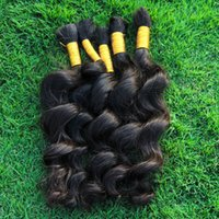 Wholesale Extension Human Hair Curly Micro - Human Hair Bulk No Weft Best Peruvian Loose Wave Hair 3 Bundles Curly Human Hair Extensions For Micro braids Cheap Weave Bulks
