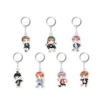 Wholesale Kpop Rings - Youpop KPOP BTS Bangtan Boys Four Years 4th Anniversary Album Key Chain Cartoon Personalized Key Ring Pendant Keyring YSK396