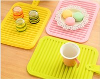 Wholesale Candy Pot Holders - Silicone Pot Holders high quality candy color silicone Cup mat insulation silicone anti-skid anti-hot Table Decoration Mats Pads wholesale