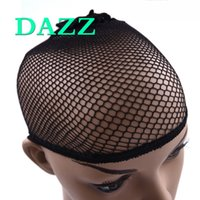 DAZZ Wholesale Hairnet For Wigs 50 100pcs Black Hair Net Wig Cap para tecer Free-Size Respirável Bouncy Nylon Hair Nets para fazer perucas