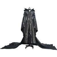 ingrosso abiti da donna in lattice-Kukucos Adult Womens Dress Maleficent Evil Black Queen Latex Costume di Halloween Cosplay