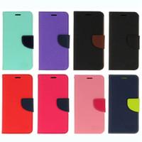 Wholesale Desire X Leather - For LG G4 Stylus2 Plus X Cam Screen Galaxy C5 C7 Mercury Wallet Leather Case Iphone 7 Plus HTC Desire 825 Flip Cover Card Pouch