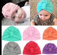 Wholesale india headwear resale online - Baby Hat Winter Warm Boys Girls Caps Infant Bohemian Style India Hats Candy Color Hair Accessories Headwear KKA3231