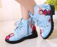 Wholesale Pink Ribbon Animation - 2016 autumn and winter girls cotton shoes princess shoes boots child children cartoon snow boots boots