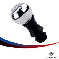 Wholesale Peugeot Gear Knob - PQY RACING - 5 Speed Stainless Steel Manual Gear Shift Knob VTS Sports HandBall For Peugeot PQY-GSK81