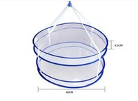 Wholesale Net Laundry Baskets - Drying Basket Rack Folding Hanging Clothes Laundry Dryer Net Underware Shirt Basket 2 Tiers Mesh Net 100% Brand New