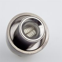 Wholesale Metal Orbs - Metal Coil Replacement for Steel Cannon Vase Wax Atomizer Glass Globe Vaporizer Dual Quartz Coil Replacement Source orb 3 Atomizer