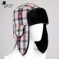 Wholesale Top Trapper Hats Men - Wholesale-New Top Selling Men and Women Ear Flaps Winter Bomber Hat Ushanka Russian Hat Warm solid color Man Cap Cozy Bonnet Caps For Men