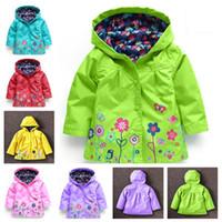 Wholesale Girls Coat Waterproof Down Jacket - 2017 Girls Jacket Children New Coat Hooded Fashion Casual Sweatshirt Button-Down Jackets for Girls Waterproof Raincoat Kids Clothes