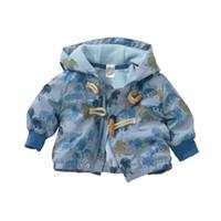 ingrosso ragazzi allineati giacca invernale-1-3Y tuta invernale bambino giacca bambino con cappuccio, giacca cane di marca stampa cappotto con cappuccio cane con rivestimento in pile polare cappotto wiinter spedizione gratuita