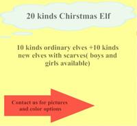 ventes de noël achat en gros de-Grosses soldes! 20 couleurs elf avec écharpe poupées de noël elfe en peluche jouets sur le plateau elfes poupées de Noël pour les enfants vacances et cadeau de noël