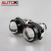 Wholesale Bi Xenon H4 Projectors - Free Shipping Autoki Stanley 2 HID bi-xenon projector H4 H7 D2S D2H headlight DIY retrofit bixenon Lens