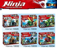 Wholesale Decool Ninja - Phantom Ninja Tornado Motorcycle Vehicle Chariot Mini Toy Figure Building Blocks Nya Cloe Zane Kai Lloyd Bricks Decool 10029-10034