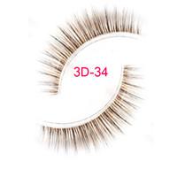 Wholesale false hair brown resale online - 3D brown fake eyelashes D silk eyelashes brown false eyelashes brown lashes