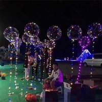 Wholesale Wholesale Science Supplies - Luminous Led Transparent 3 Meters Balloon Flashing Wedding Party Decorations Holiday Supplies Color Luminous Balloons Always Bright