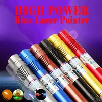 Aerometal body high power focus bleu laser pointeur stylo 450nm puissant laser star caps charger box Livraison gratuite