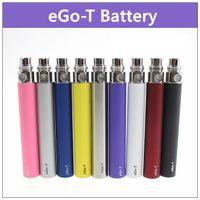 Wholesale Ego T Mt3 - eGo-t ecig non-adjustable battery - 20PCs. 650mAh 900mAh 1100mAh electronic cigarette battery 510 thread for ce3 ce4 atomizer mt3 protank h2