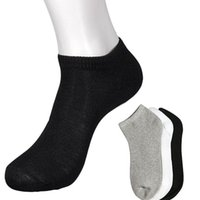ingrosso calzini da equipaggio atletico-Calzino sportivo nero caviglia sportivo basso caviglia / caviglia Quarter Quarter da uomo