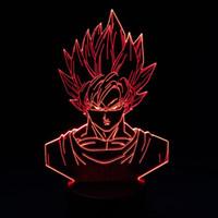ejderha topu ışığı toptan satış-Goku Dragon Ball 3D Illusion Lamba RGB Renkli Gece Lambası USB Powered Pil Bin Bin Dropshipping Hediye Kutusu Hızlı Kargo