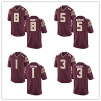 Wholesale Fsu Jersey - Customized Jersey FSU Jalen Ramsey 8 Jameis Winston 5 Jarmon Fortson 1 Jesus Wilson 3 Men Limited Red College Football Custom Jerseys