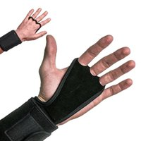 Wholesale Cheap Wrist Supports - New Cheap Crossfit Genuine Leather Weight Lifting Gloves Crossfit Gymnastics Grips Palm grip protectors double layer