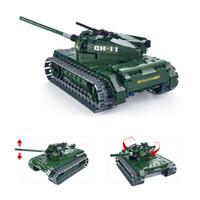 Wholesale Model Car Kits Children - Wholesale- 453Pcs Utoghter 69001 2.4G RC Battle Tank Building Blocks Kits Toy Bricks Car 2017 Hot Sale Model DIY Toys for Children
