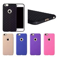 Wholesale Iphone Cover Square Silicone - Honeycomb Skin Football Square Ultra Thin Slim Soft TPU PC Cover Case for iPhone SE 5 5S 6 6S Plus 4.7 inch 5.5 inch Free DHL MOQ:100pcs