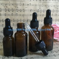 Wholesale Essential Oil Glass Dropper Bottles - 10ml 15ml 20ml 30ml Amber Glass Dripper Bottles for Essential Oils with Glass Eye Dropper , E Liquid Dropper Bottle Perfume Oil Bottles