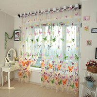 Romantico Curtain farfalla filato Tulle Camera Ready Made Finito Organza Bambino Finestra Cortina dello schermo per Living Room Home Decor