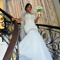 Wholesale Dresse Jackets - African Mermaid Wedding Dresse With Wrap Jacket Sweetheart Beads Sequins Plus Size Wedding Dress vestido de noiva Black Girls Bridal Gowns