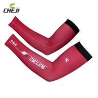 Wholesale Cheji Summer Red UV Bike Armwarmers Mountain Road Arm Sleeves Cover Bicycle Cycling Arm Warmers for Men