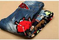 hommes de la mode globale achat en gros de-2016 Vente Chaude Patchwork Jeans Hommes 2016 Nouveau Concepteur Jeans Maigre De Mode Marque Biker Denim Général Pantalon Maigre Casual Hommes Vêtements