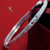 Wholesale Tibetan Wristband - Womens Wide Ethnic Tibetan Imitation Silver Bangles Carve Pattern Bracelets Design Wristband for Women Charm Jewelry