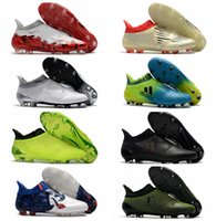 Wholesale Soccer Indoor Shoes Messi - 2017 ace 17 + Purecontrol mens football soccer shoes X 16 Purechaos FG AG cheap soccer cleats authentic football boots original messi shoes