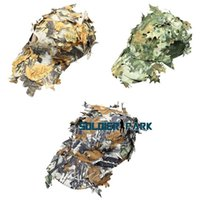 Wholesale Hidden Leaf - New Airsoft 3D Leaf Camo Baseball Cap Hunting Military Tactical Outdoor Breathable Hat for Sniper in Hidden Jungle 3 Colors order<$18no trac