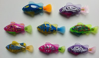 Wholesale Fish Discount - Free shipping! Discount price Toys Children Gift swimming fish ROBO FISH colors random 4pcs