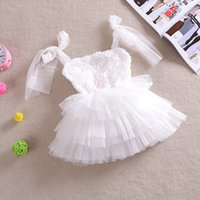 Wholesale Low Price Girls Party Clothes - Lowest Price ! New Baby Girl Summer Dress Girls Lace 3 Color Dress Girl's Casual Party Dress Tutu Dot Dresses,Girls Clothing