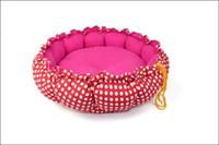 Wholesale Dual Pet Beds - Lovely pet supply Practical Soft Slumber Pet Plush Bolster Round Dual Purpose Nest Pet Dog Bed