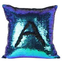 Wholesale pillowcases for kids - Wholesale- Glitter Sequins Solid Color Pillow Case Sequins Pillow Cover for Kids Super Soft Pillowcases 40 x 40 cm
